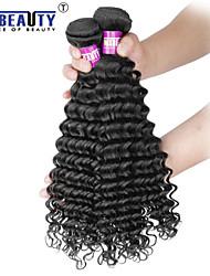 """1 pc / lot 12 """"-30"""" 7a brésilienne de cheveux vierge profonde vague cheveu humain trames de 100% les cheveux remy brésiliens tisse non"""