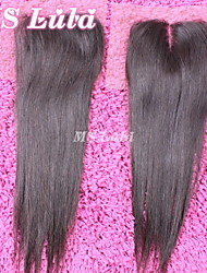 1PC 4x4 Size Brazilian Closure Straight Hair Free Parting Free Shipping MS Lula Hair Cheap Virgin Human Hair
