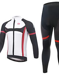 Fahrradtrikots mit Fahrradhosen Herrn Langärmelige FahhradAtmungsaktiv / Rasche Trocknung / Feuchtigkeitsdurchlässigkeit /
