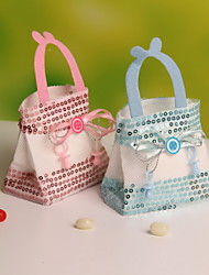Wedding Candy Favor Bags  Portable Favor Bags Nonwoven Fabric Candy Bag 2 Colors  Set of 12
