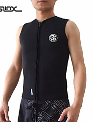 SLINX Unisex Vest/Ultraviolet Resistant/YKK Zipper/Thermal Vest 3mm Black S/M/L/XL/XXL