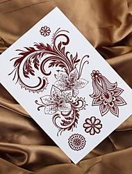 2016 New 4PCS Fashion Indian Henna Tattoo Mendhi Painting Tattoo Temporary Tattoo Sticker