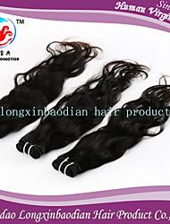 3 paquetes de estilo de la moda de grado 7a precio de fábrica 100% onda natural sin procesar remyperuvian trama del pelo humano