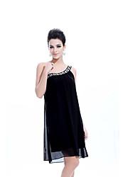 Han&Chloe® Women's Single Shoulder Sequined Sleeveless Chiffon Dress