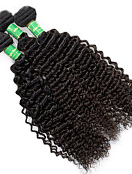 "3 Pcs Lot 8""-28""Brazilian Virgin Hair #1B Kinky Curly Human Hair Brazilian  Hair Factory Wholesales Price"