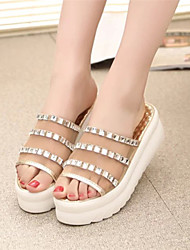 Sandalias ( Caucho , Dorado/Plateado )- 3-6cm - Tacón Cuña para Zapatos de mujer