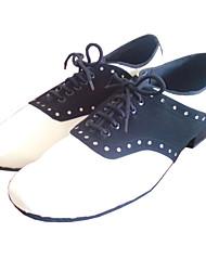 Chaussures de danse (Multicolore Gros talon - Suédé/Cuir - Chaussures à coudre