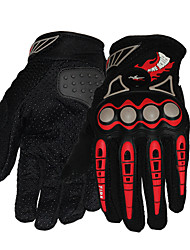 PRO-BIKER Motorcycle Gloves Full Finger Rubberr/Polypropylene Fiber M/L/XL Red/Black/Blue/Orange