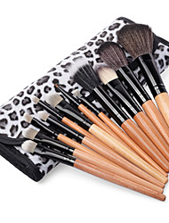 2015 Professional Makeup Brush Set 12PCS Eyebrow Shadow Cosmetic Brush Kit With Leopard Fashion Bag Case