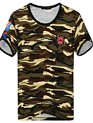Men's Short Sleeve T-Shirt , Cotton Casual