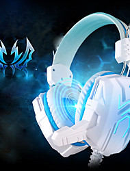 EACH GS310 Headphone Wired 3.5mm Over Ear Gaming LED Light with Microphone For PC