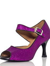 Zapatos de baile ( Morado ) - Salsa - No Personalizable - Tacón de estilete