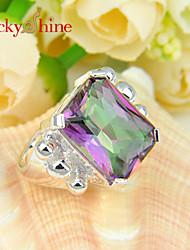 Anillos De mujeres / Hombre / Unisex Cristal Plata Plata 7 / 8 / 9 Plata Los colores de embellecimiento se muestran en la foto.