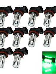 10X 5 COB LED H11 Bulb Green  Fog Light Parking Non-polar Lamp PGJ192 7.5W H210