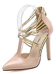 Scarpe Donna Vernice A stiletto Tacchi/A punta Scarpe col tacco Formale/Serata e festa Beige