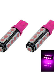2X Pink T10 17 SMD 5050 LED Car Clearance Reversing Lamp Side Light Bulb A014
