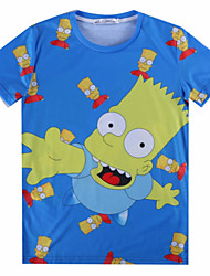 European Style TEE Digital Printing 3D T-shirt Wrinkled Dream Simpson Harajuku Sleeved T-shirt