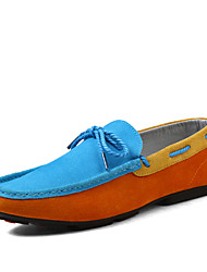 Men's Shoes Outdoor/Office & Career/Athletic/Casual Leather Boat Shoes Blue/Brown/Navy/Orange