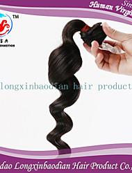 2015 lxbd prezzo di fabbrica di stile fasion colore naturale dei capelli dell'onda allentata 22inch dei capelli umani peruviana remy non