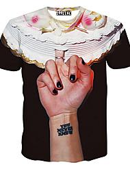 MEN - T-shirt - Informale Rotondo - Maniche corte Misto cotone