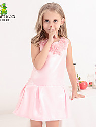 KAMIWA Girl's Summer Floral Chiffon Ball Gown Princess Dresses Sleeveless Vest Skirts Kids Clothes Children's Clothing