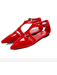 Women's Shoes  Low Heel Mary  Sandals Outdoor/Casual Black/Red/White