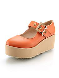 DamenBüro / Kleid / Lässig-Kunststoff-Keilabsatz-Absätze / Pumps-Beige / Orange / Khaki