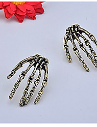 Gothic Style Skull's Hand Pattern Earrings
