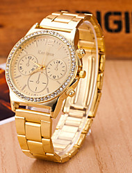 Women's Watches  Quartz  Swiss Alloy Watch Fashion Three Eye Watch