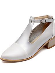 Zapatos de mujer-Tacón Bajo-Tacones / Tira en T / Puntiagudos-Tacones-Oficina y Trabajo / Vestido / Casual / Fiesta y Noche-Semicuero-