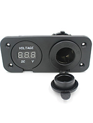 12V Motorcycle Cigarette Lighter Socket Power Outlet Plug Voltmeter Socket