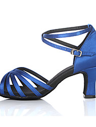 Customizable Women's Dance Shoes for Latin/Salsa in Blue