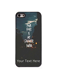 Personalized Gift You Voice is My Favorite Sound Design Aluminum Hard Case for iPhone 5/5S