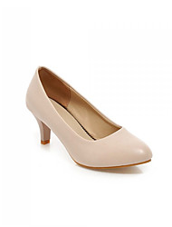 Women's Shoes  Kitten Heel Basic Pump Pumps/Heels Office & Career/Dress/Casual Black/White/Beige