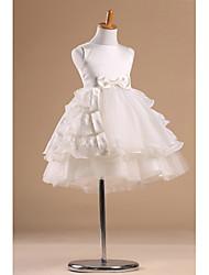 Vestido de niña de las flores - Corte Princesa Hasta la Rodilla - Satén/Tul Sin Mangas