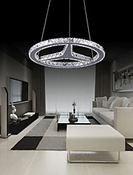 Round LED Crystal Pendant Lighting Chandeliers Lights Lamps Fixtures AC 100 to 240V Transparent K9 Crystal