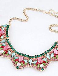 New Arrival Fashional High Quality Geometric Gem Crystal Necklace