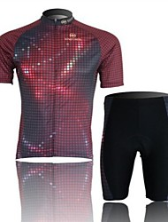 Lightning Short Sleeved Riding Clothes Suit, Moisture Cycling Wear, Motor Function Material