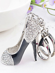 Rhinestone Creative High-heeled Shoes  Key Chain Ring Keyring