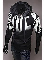 Men's Hoodie Sweats & Hoodies , Cotton Blend Long Sleeve Casual Hollow Out Winter / Fall HI MAN