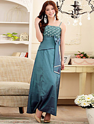 Women's Elegant Lace Sling Strapless Bridesmaid/ Wedding Party Long Plus Size Dress