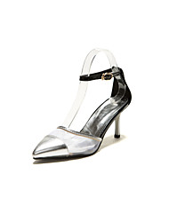 Women's Shoes Faux  Stiletto Heel Gladiator/Pointed Toe Pumps/Heels Office & Career/Dress/Casual Silver/Gold