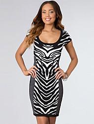 Women's Zebra Print Bon-conscious Vintage Dress