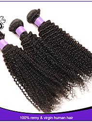 7a cheveux crépus brésilienne vierge 3pcs bouclés enchevêtrement de cheveux vierges gratuits pas cher cheveux humains 12-22 brésiliens