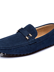 Doudou Shoes Men's Leather England Sleeve Shoes Spring & Autumn Casual Shoes Wild Round Lazy Day Sailboat Shoes One Pedal size 45 46