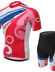 WEST BIKING® Men's Mountain Bike Clothing Suit Breathable Fresh Red Wicking Cycling Clothing Short Suit