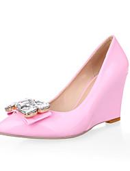 Women's Shoes  Wedge Heel Wedges/Pointed Toe Pumps/Heels Casual Black/Pink/Red/Beige