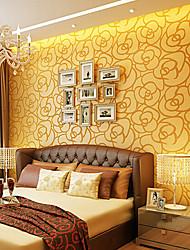 au papier peint contemporain mur floral couvrant l'art non-tissé mur de papier