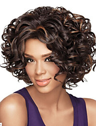 African American wig Sexy dark brown Mix short Curly hair wig Free shipping
