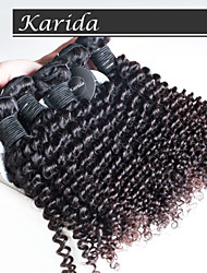 4 pcs/Lot Cheap Malaysian Curly Hair, Malaysian Deep Curly Wavy  Remy Hair